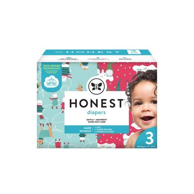 The Honest Company Ice Ice Baby & Gnomies for Life Disposable Diapers - Size 3 - 68ct