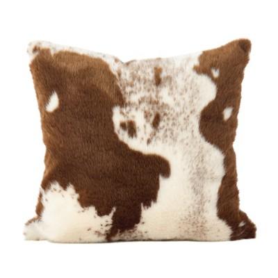 Saro Lifestyle Urban Faux Cowhide Pillow