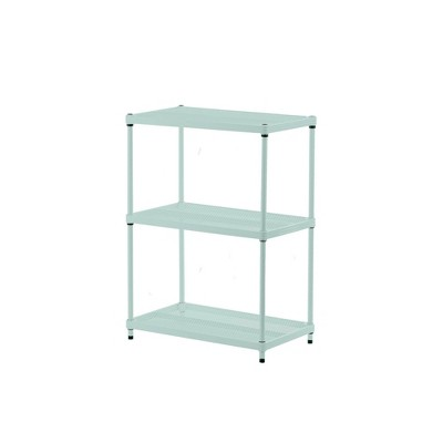 "Design Ideas Meshworks Steel Storage Shelving Unit – 3-Tier Unit 23.6"" x 13.8"" x 31.5"""