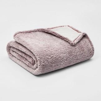 Twin Fuzzy Bottom Printed Blanket Chili - Threshold™