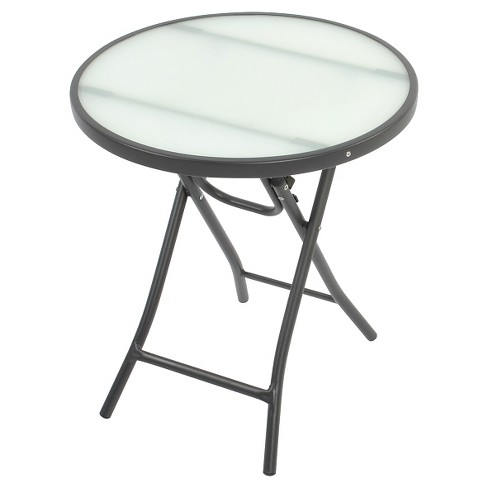 Glass Folding Patio Accent Table - Threshold™ - image 1 of 1