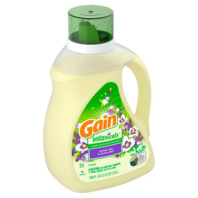 Gain White Tea & Lavender Botanicals Plant Based Laundry Detergent - 100 fl oz