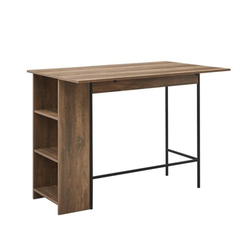 48 Counter Height Drop Leaf Dining, Bar Height Table With Storage
