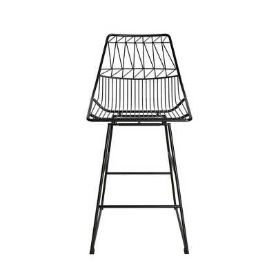 Astrid Wire Metal Counter Height Barstool - CosmoLiving by Cosmopolitan