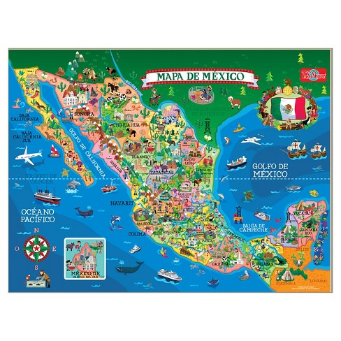 T.S. Shure - Wooden Magnetic Map Of Mexico Puzzle 50pc : Target