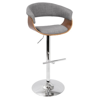 Mod Mid - Century Modern Adjustable Barstool - Lumisource