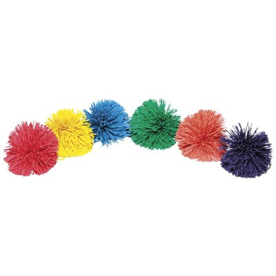 Sportime Rub-R-String Balls, 3-1/2 Inches, Assorted Colors, set of 6