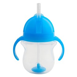Munchkin Click Lock Weighted Straw Trainer Cup - 7oz - Blue