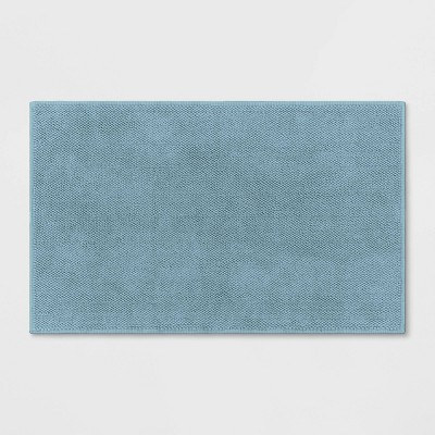 "21""x34"" Bath Mat Aqua - Threshold Signature™"