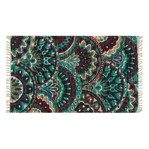 "Loloi Aria Accent Rug - Brown/Green (1'8""X3') - image 1 of 1"