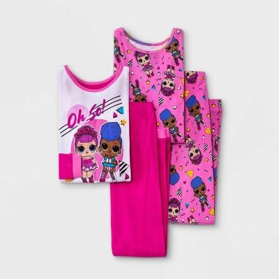 Girls' L.O.L. Surprise! 4pc Pajama Set - Pink
