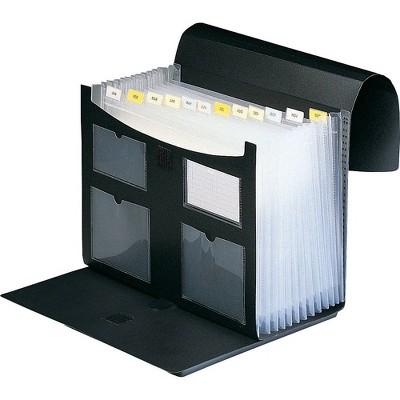 "Staples Accordion File 9.5"" x 13"" 13-Pocket Black (10759) TR10759/10759"