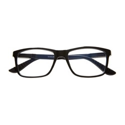 ICU Eyewear Screen Vision Blue Light Filtering Rectangle Black Large Glasses
