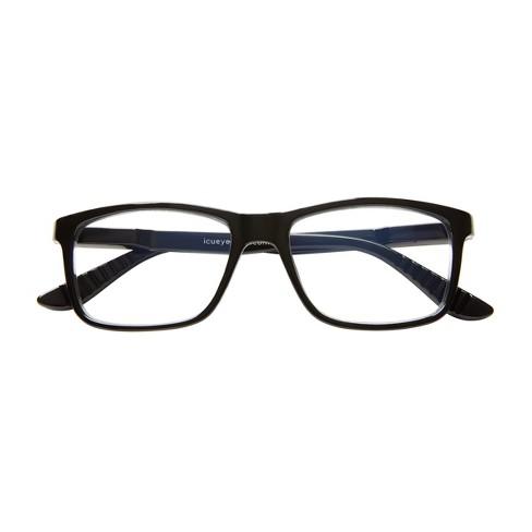 e5821592cf2 ICU Eyewear Screen Vision Blue Light Blocker Rectangle Black Large Glasses    Target