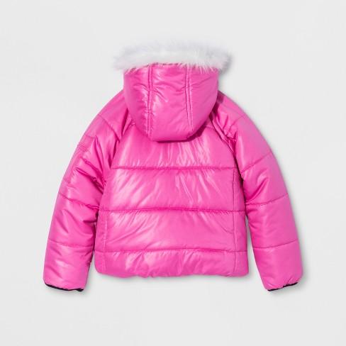 4140c56e734 Girls  JoJo Siwa Puffer Jacket - Pink   Target