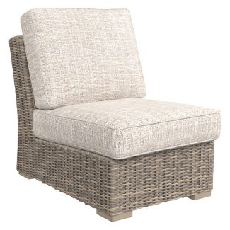 Beachcroft Armless Chair with Cushion - Beige  - Outdoor by Ashley