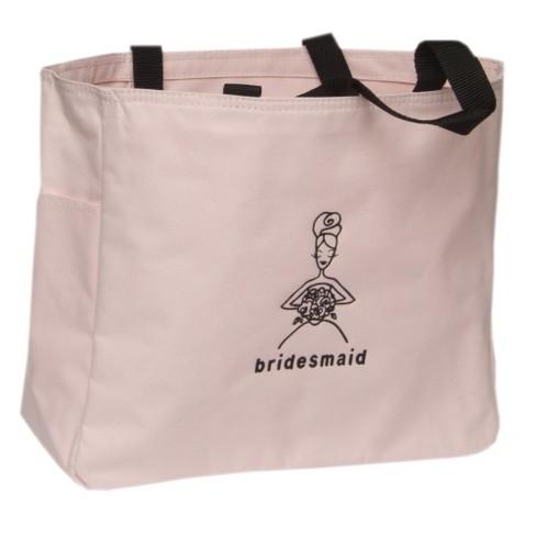 Bridesmaid Wedding Gift Tote - Pink - image 1 of 2
