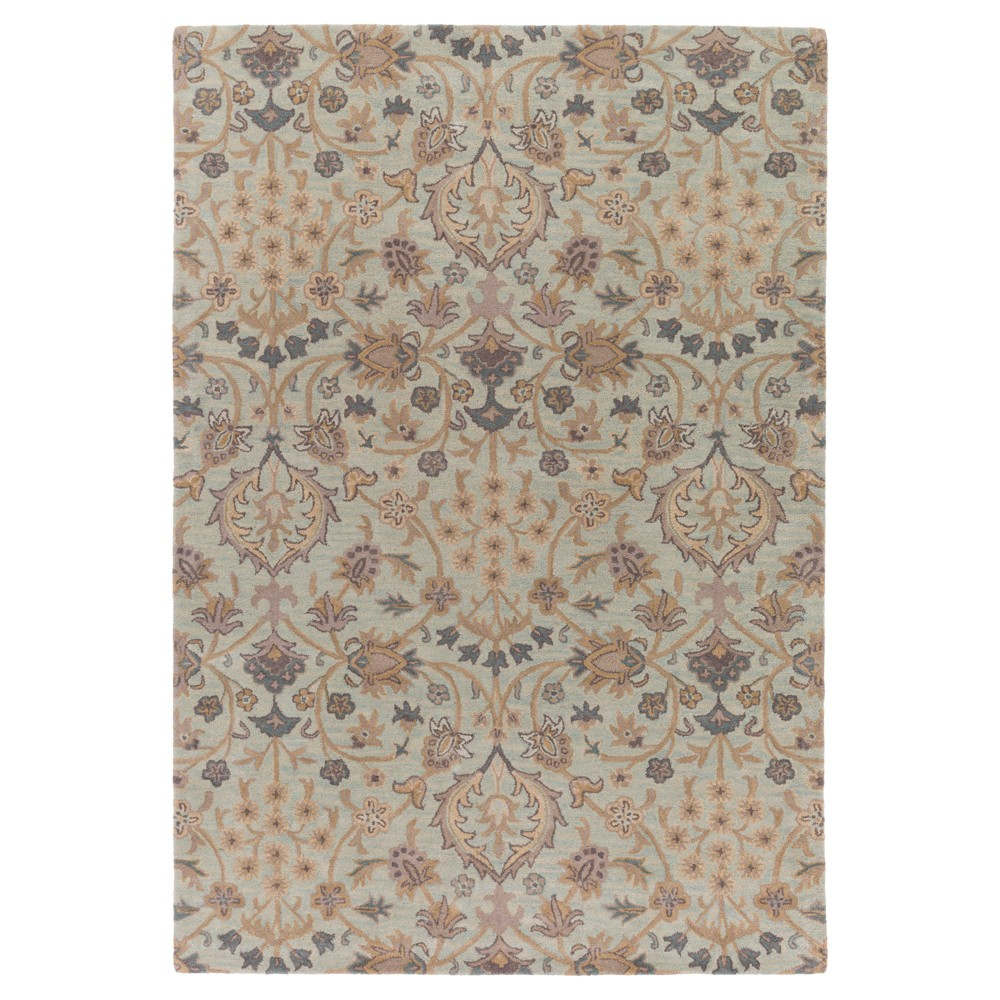 Blue Abstract Tufted Area Rug - (6'x9') - Surya