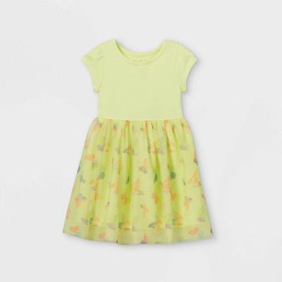 Toddler Girls' Tie-Dye Butterfly Dress - Cat & Jack™ Yellow
