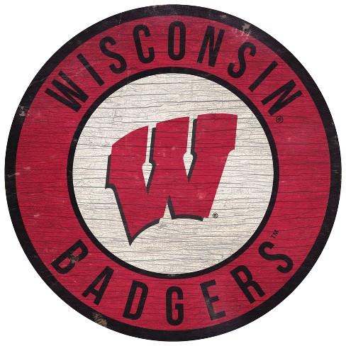 NCAA Wisconsin Badgers Wood Sign