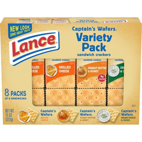 Lance Variety Pack Captain's Wafer Cracker Sandwiches - 11oz/8ct - image 1 of 4