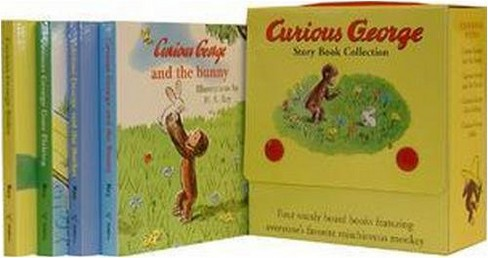 Curious George Story Book Collection Boxed Set (Hardcover) by H.A. Rey - image 1 of 1