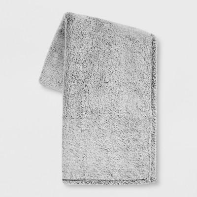 60 x50  Fuzzy Bottom Printed Throw Blanket Gray - Threshold™
