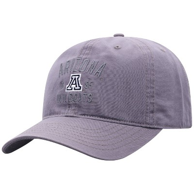 NCAA Arizona Wildcats Men's Skill Gray Garment Washed Canvas Hat