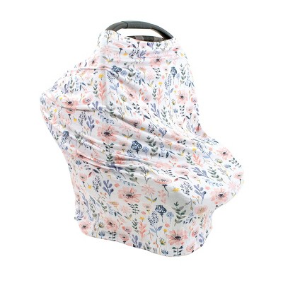 Bebe au Lait Pure and Simple 5-in-1 Multiuse Nursing Cover - Poppies Floral