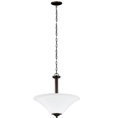 "Sea Gull Lighting Holman 3-Light 18"" Pendant, Heirloom Bronze 66808-782"