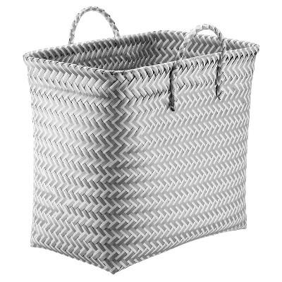 Medium Tall Rectangular Storage Basket - Gray and White - Room Essentials™