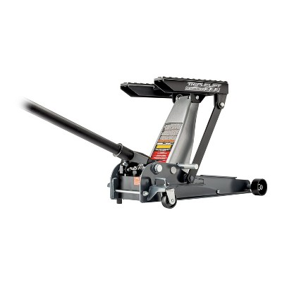 Powerbuilt 620622 Heavy Duty 3-in-1 3000 Pound 1.5 Ton Triple Lift Floor Jack for Cars, Trucks, Motorcycles or ATVs, Gray