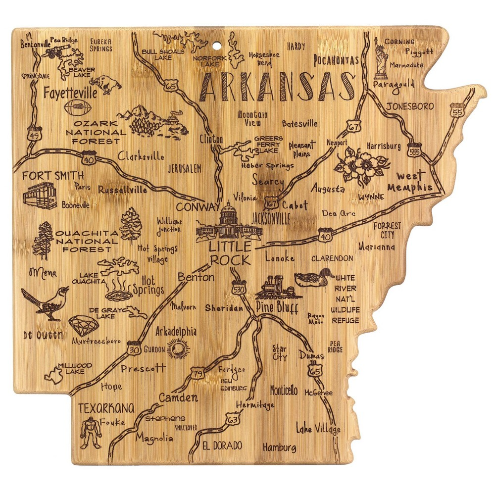 Image of Totally Bamboo Destination Arkansas Serving and Cutting Board