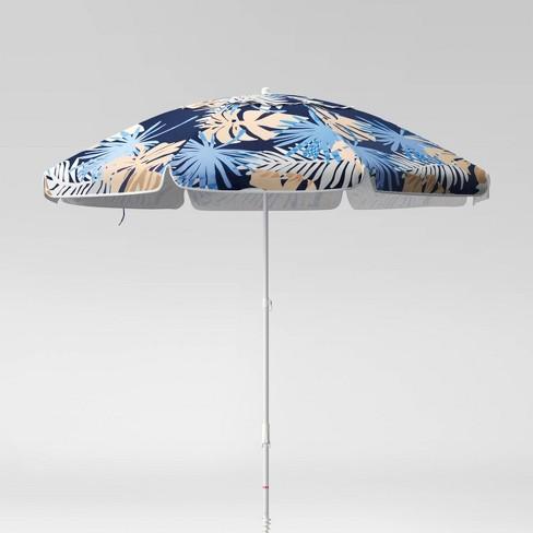 7' Palm Print Beach Umbrella - Sun Squad™ - image 1 of 4