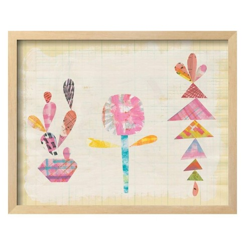 Collage Cactus IX by Melissa Averinos Framed Art Print - Art.com - image 1 of 3