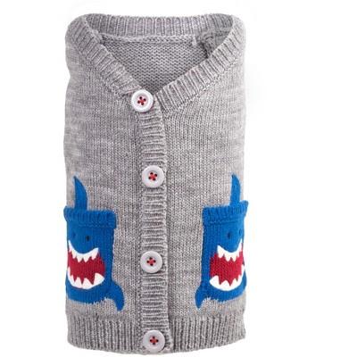 The Worthy Dog Shark Pullover Cardigan Sweater