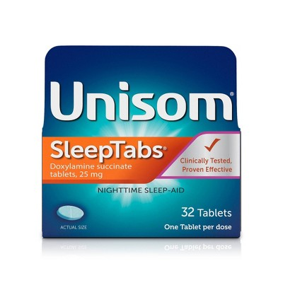 Unisom SleepTabs Nighttime Sleep Aid Tablets - Doxylamine Succinate - 32ct