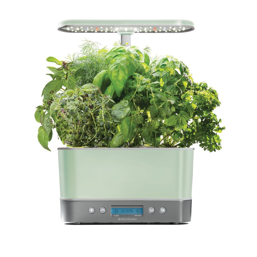 Image of Harvest Elite Planter Sage Stainless - AeroGarden, Green