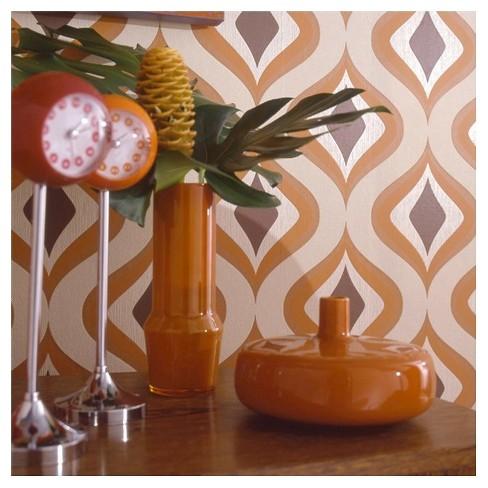 Graham & Brown Trippy Wallpaper - Orange