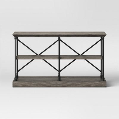 60  Conway Cast Iron Horizontal Bookcase Wood - Threshold™