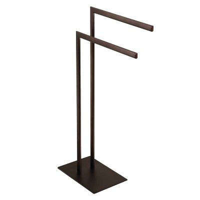 Edenscape Pedestal Dual Towel Rack Oil Rubbed Bronze - Kingston Brass