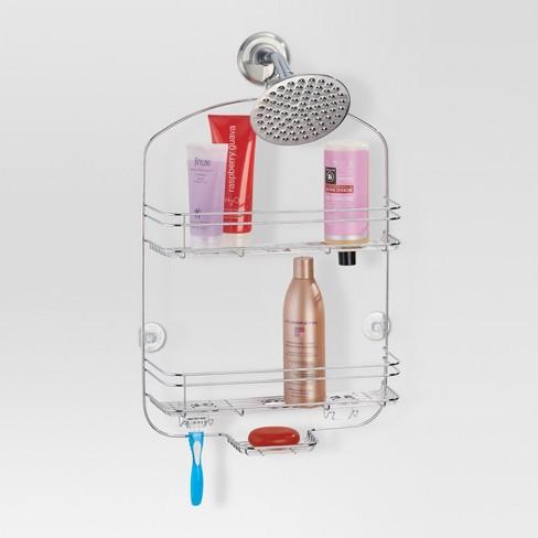 Bathroom Shower Caddy Chrome Wide Threshold Target