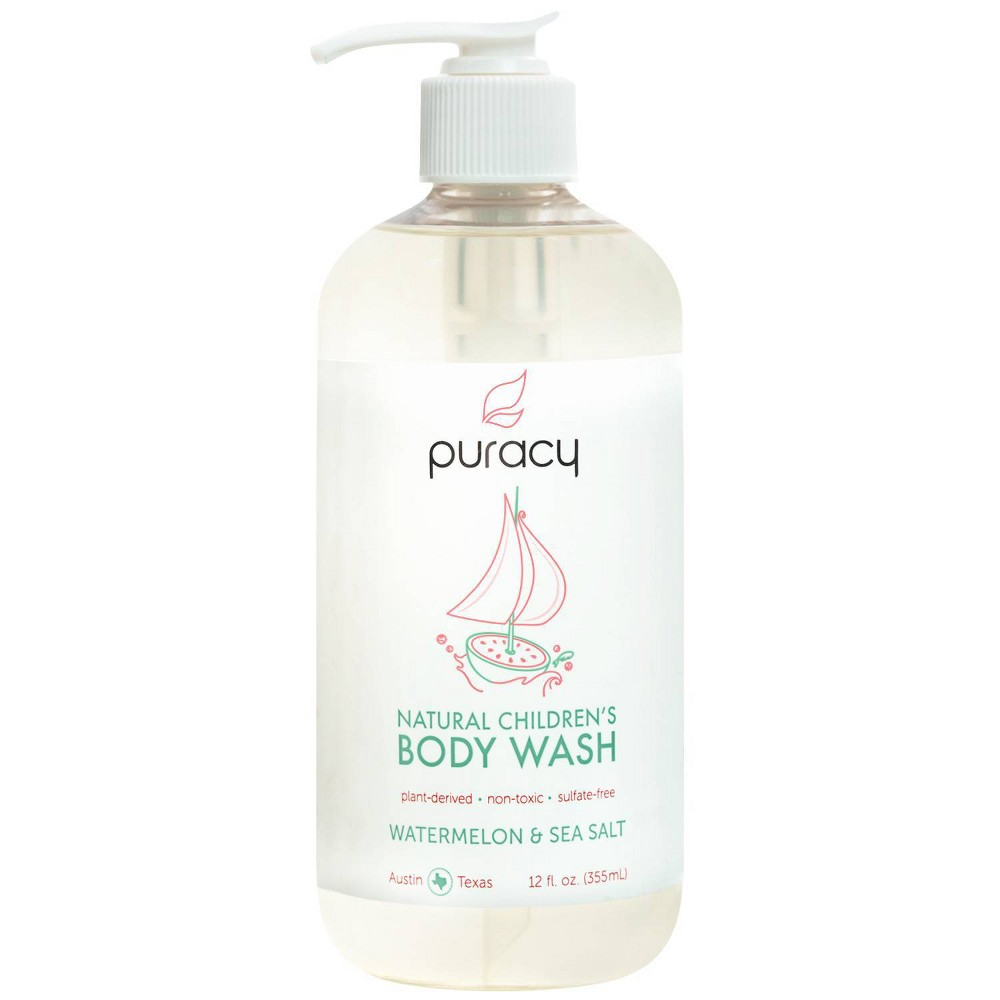 Image of Puracy Natural Children's Body Wash Watermelon & Sea Salt Sulfate-Free Kid's Soap - 12oz