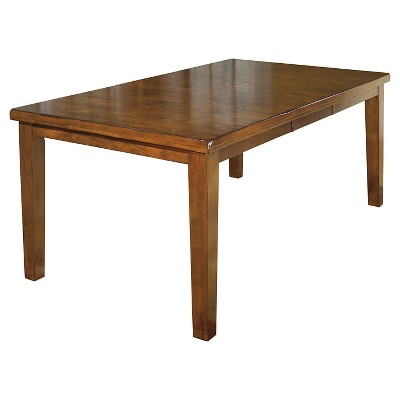 Ralene Rectangular Dining Room Butterfly Extendable Table Wood/Medium Brown - Signature Design by Ashley