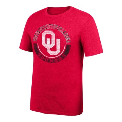 NCAA Oklahoma Sooners Men's Short Sleeve Crew Neck Staple T-Shirt