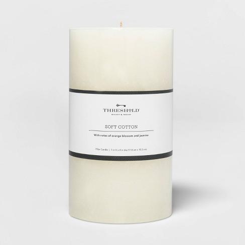 Pillar Candle Soft Cotton White - Threshold™ - image 1 of 2