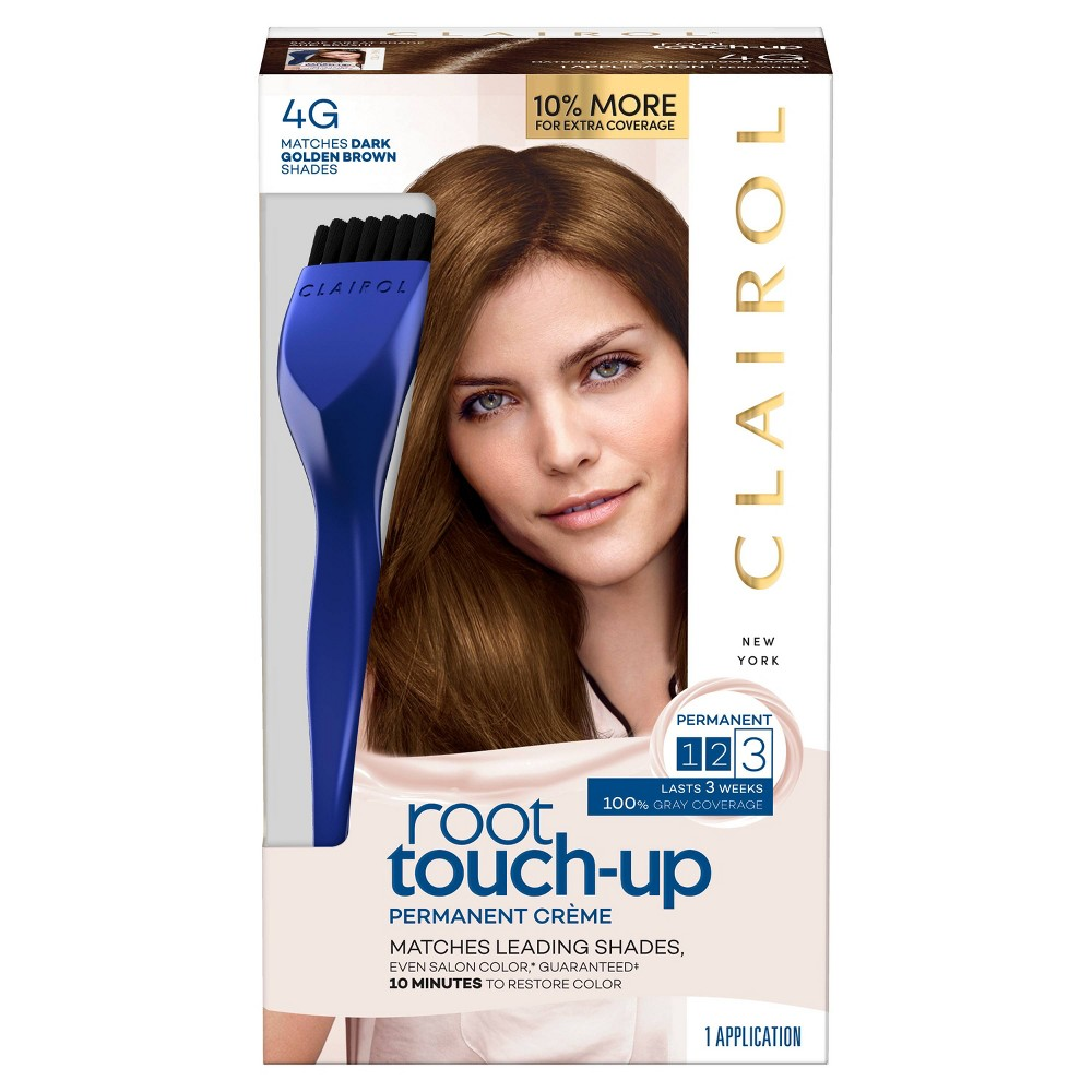 Image of Clairol Root Touch-Up Permanent Hair Color - 4G Dark Golden Brown - 1 kit, Dark Golden Brown-4