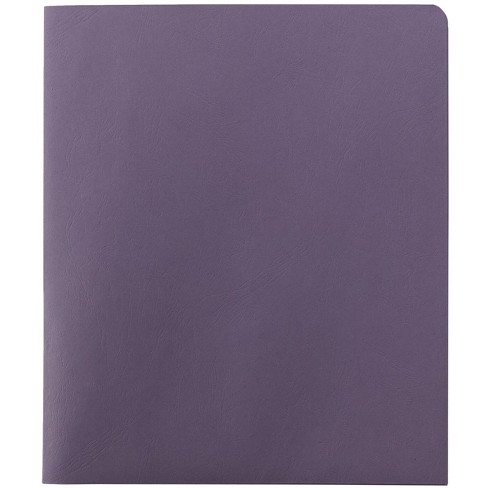 Smead Embossed Portfolio, Heavy-Duty Paper, Two-Pocket , Lavender, pk of 25 - image 1 of 2
