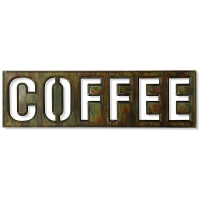Metal Coffee Bistro Sign Burnished Wall Art - StyleCraft