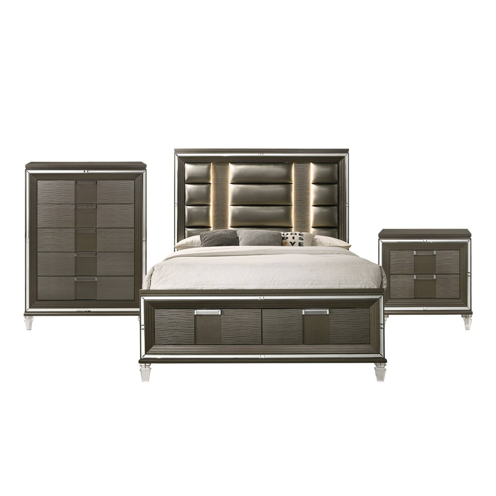 Image of 3pc Queen Charlotte Storage Bedroom Set Copper - Picket House Furnishings